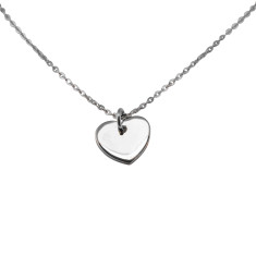 Heart pendant necklace (various colours)