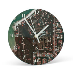 Personalised aerial map clock (choose your location)