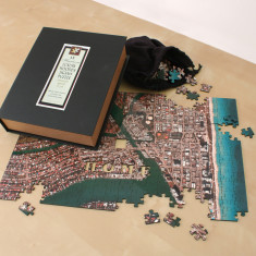 Wooden aerial photo puzzle (choose your location)