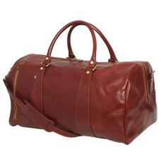 Nardi leather weekender bag in brown