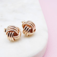 Rope Ball Studs (rose gold)