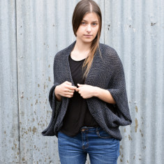 Knitted merino wool shrug