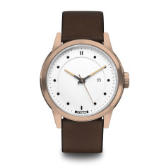 Hypergrand maverick 3hd leather rose gold white with brown