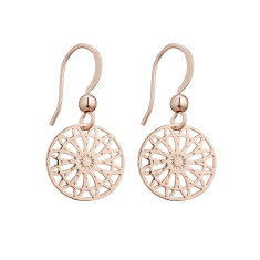 Starburst earrings in rose gold