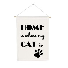 Home is wher my Cat is handmade wall banner