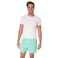 Gone fishing green men's boxer shorts
