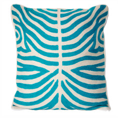 Handmade kashmir wool cushion cover in zebra (2 colours)