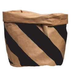 GE wash paper bag in black stripe