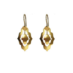 Dancing Forms Earrings - Small Gold