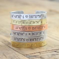 Personalised handmade coordinates bracelet