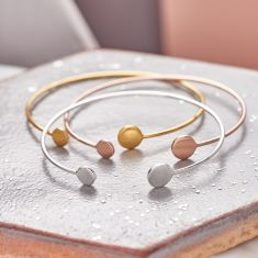 Open Cuff Double Circle Bangle