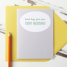 Giant Hugs From Your Tiny Human First Father's Day Card
