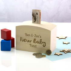 Personalised New Baby Fund Money Box