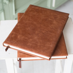 A4 Rustic Tan Leather Journal