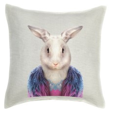 Easter Rabbit linen cushion cover