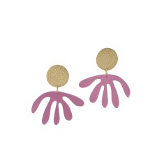 Pink Mirror Matisse Drop Earrings