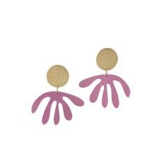 Pink Mirror Matisse Drop Earrings