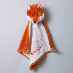 Personalised fox baby comforter