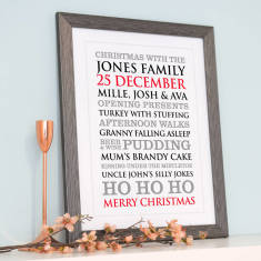Personalised Christmas Typographic Art