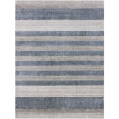 Blend Hand Loomed wool and art silk rug