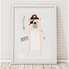 Pirate bear print