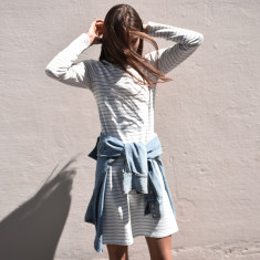Satellite Striped Tee Dress (various colours)