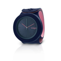 Dark blue and baba pink Aight watch