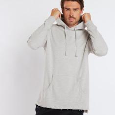 Raw edge hoodie