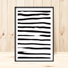 Stripey art print (large format available)