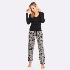 Mondrian Pj Pant  Black / Cream