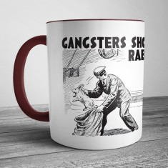 Retro Illustration Mug Gangsters Shouldn't Grab Rabbits