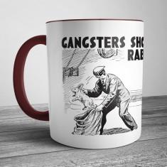 Retro Illustration Mug Gangsters Shouldn't Grab Rabbits
