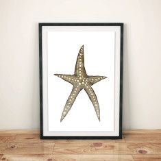 Starfish watercolour art print
