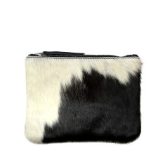 Black and white hide purse