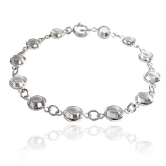 Swarovski crystal jewelled chain bracelet in crystal