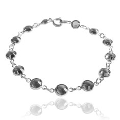 Swarovski crystal jewelled chain bracelet in black diamond
