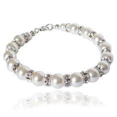Tatiana Swarovski crystal pearl bracelet in white