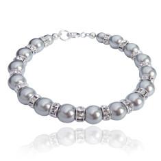 Tatiana Swarovski crystal pearl bracelet in silver