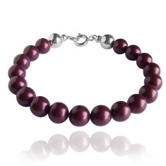 Swarovski pearl bracelet in blackberry