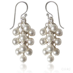 Swarovski crystal pearl baroque earrings