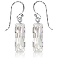 Swarovski crystal city earrings in crystal
