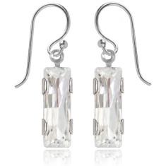 Swarovski crystal city earrings in crystal