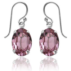 Swarovski crystal oval earrings in antique pink