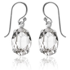 Swarovski crystal oval earrings in crystal