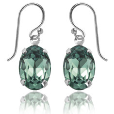 Swarovski crystal oval earrings in erinite