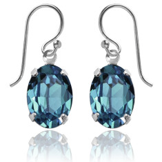 Swarovski crystal oval earrings in indicolite