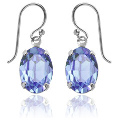 Swarovski crystal oval earrings in light sapphire