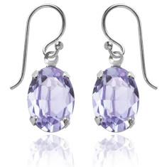 Swarovski crystal oval earrings in provence lavender