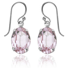 Swarovski crystal oval earrings in rosaline