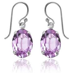 Swarovski crystal oval earrings in violet